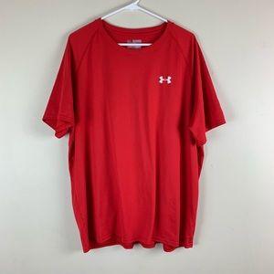 Under Armour Men's Heatgear Loose Fit T-Shirt Red